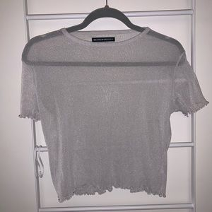 Sparkly Mesh Top | Brandy Melville